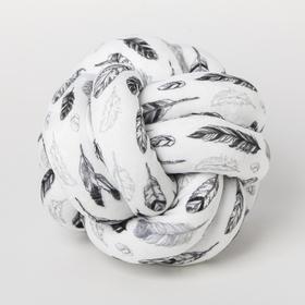 Подушка-узел «Пёрышки», 19 × 19 см