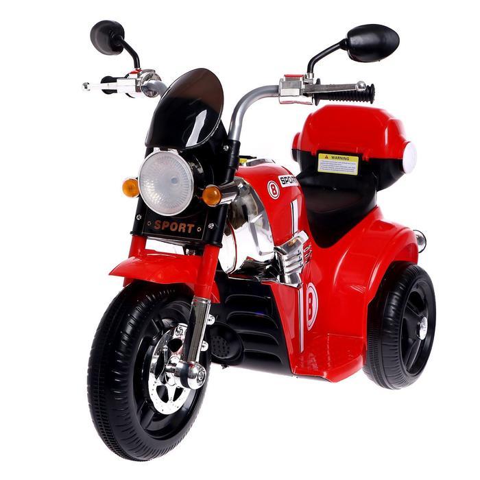 Детский электромобиль «Чоппер», с аккумулятором, световые и звуковые эффекты, цвет красный