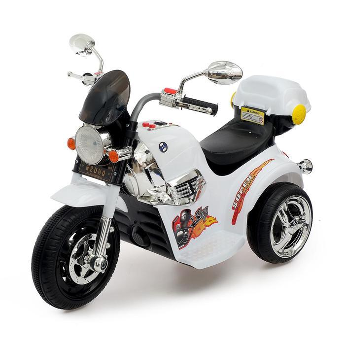 Электромобиль «Чоппер», с аккумулятором, световые и звуковые эффекты, цвет белый