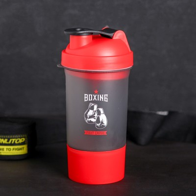 """Shaker sports """"Boxing"""", with a bowl under protein 500 ml"""