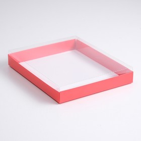 A cardboard box 260*210*30 with transparent lid, pulp, al