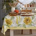 """Скатерть """"Этель"""" Солнечные цветы 110х147 см,  100% хлопок, саржа 190 г/м2"""