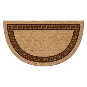 Коврик придверный Kokarda «Меандр», 40 х 70 см, коричневый, полукруг