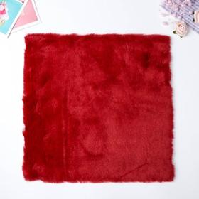 "Artificial fur for creativity density 600 g ""Burgundy"" 30x30 cm"