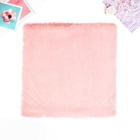 "Artificial fur for creativity density 600 g ""Peach"" 30x30 cm"
