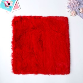 Artificial fur for creativity density 1200 gr Red 30x30 cm