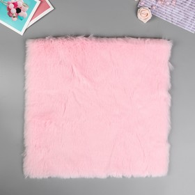 "Artificial fur for creativity density 1200 gr ""pale pink"" 30x30 cm"