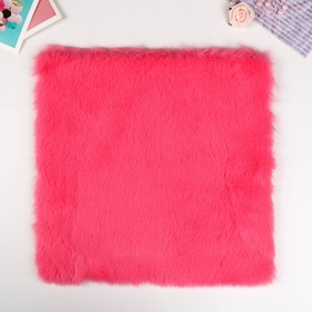 "Artificial fur for creativity density 1200 gr ""Bright pink"" 30x30 cm"