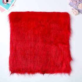 "Artificial fur for creativity density 2150 g ""is Red with dark tips"" 30x30 cm"