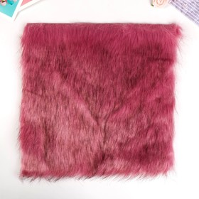 """Artificial fur for creativity density 2150 gr """"Pink with dark tips"""" 30x30 cm"""