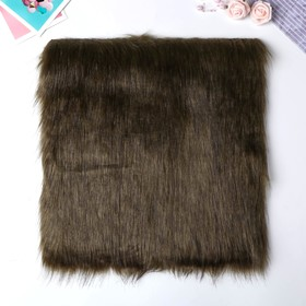 "Artificial fur for creativity density 2150 g ""Khaki with dark tips"" 30x30 cm"