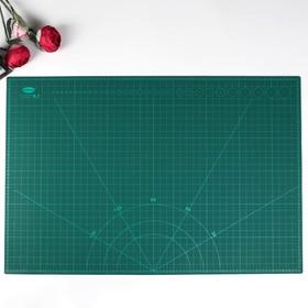 Резиновый мат для творчества формат А1 60х90 см толщина 3 мм МИКС
