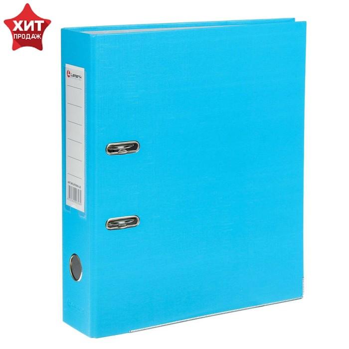 Папка-регистратор А4, 80 мм, PP Lamark, голубой, металлическая окантовка. карман, разобранный