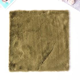 """Artificial fur for creativity density 600 g """"moss Green"""" 30x30 cm"""