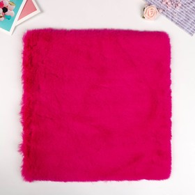 "Artificial fur for creativity density 1200 gr ""Bright fuchsia"" 30x30 cm"