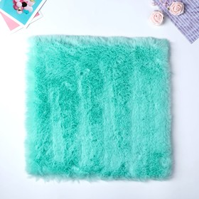 "Artificial fur for creativity density 1200 gr ""Turquoise"" 30x30 cm"