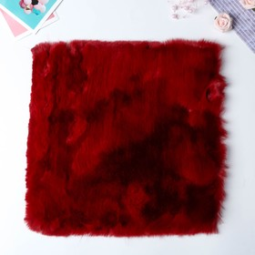 "Artificial fur for creativity density 1200 gr ""Burgundy"" 30x30 cm"