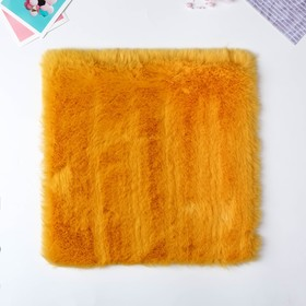 "Artificial fur for creativity density 1200 gr ""Mustard"" 30x30 cm"