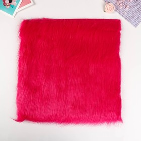 "Artificial fur for creativity density 2150 g ""hot pink"" 30x30 cm"