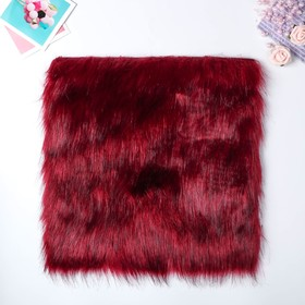 "Artificial fur for creativity density 2150 g ""Burgundy with dark tips"" 30x30 cm"