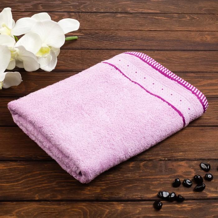 "Полотенце махровое ""Fiesta Salieri"" 70х130 см, розовый, бамбук 100%, 400 г/м2"