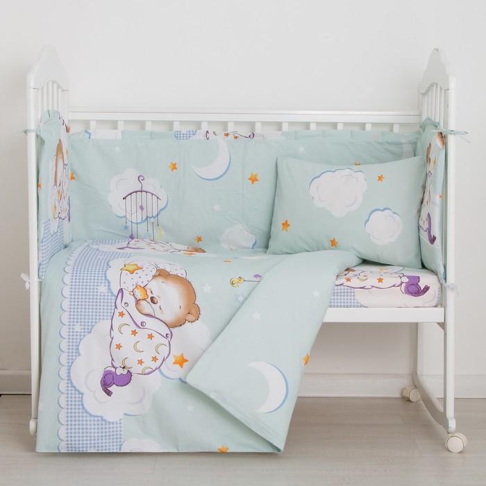 Комплект в кроватку 6 предметов Сладкий сон, бязь, хл100% - фото 887113