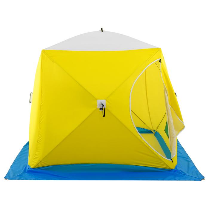 Палатка зимняя «КУБ» Long, 2-местная 3-слойная, дышащая - фото 36376