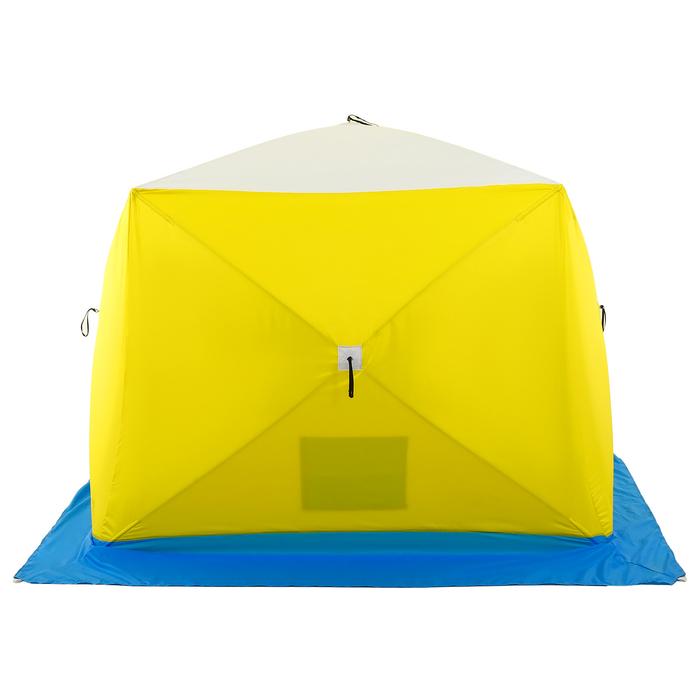 Палатка зимняя «КУБ» Long, 2-местная 3-слойная, дышащая - фото 36380