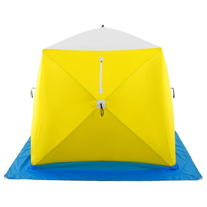Палатка зимняя «КУБ» Long, 2-местная 3-слойная, дышащая - фото 36381