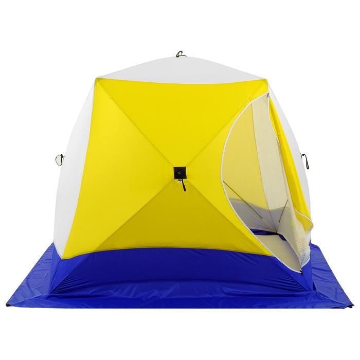 Палатка зимняя «КУБ», 3-местная 3-слойная, дышащая - фото 34118