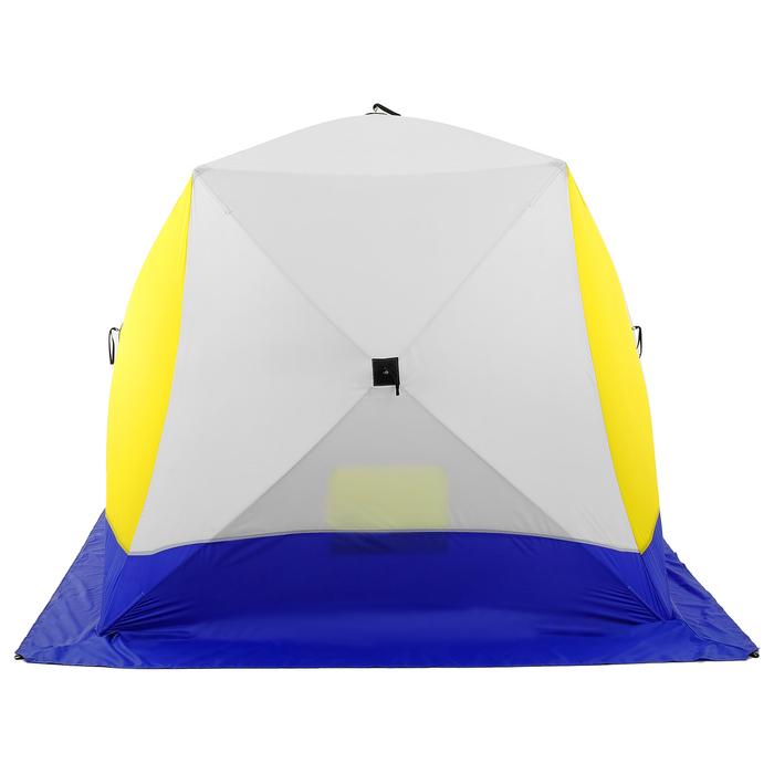 Палатка зимняя «КУБ», 3-местная 3-слойная, дышащая - фото 34119
