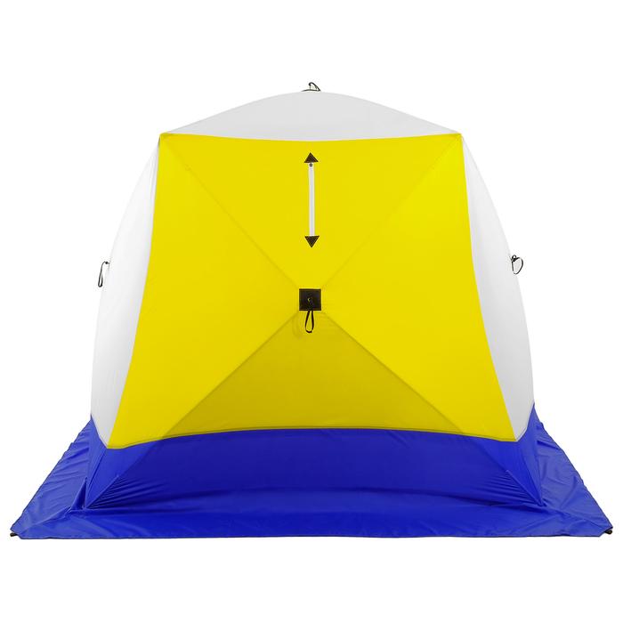 Палатка зимняя «КУБ», 3-местная 3-слойная, дышащая - фото 34120