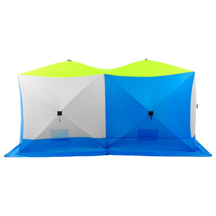 Палатка зимняя «КУБ» Дубль, 6-местная 3-слойная, дышащая - фото 34871