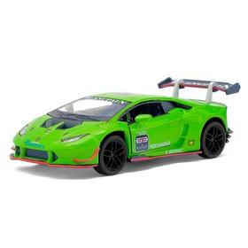 Машина металлическая Lamborghini Hurac?n LP620-2 Super Trofeo, 1:36, открываются двери, инерция, цвет зелёный