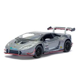 Машина металлическая Lamborghini Hurac?n LP620-2 Super Trofeo, 1:36, открываются двери, инерция, цвет серый