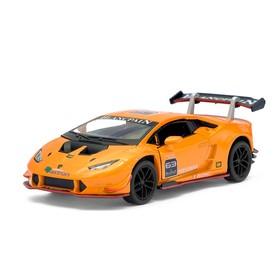 Машина металлическая Lamborghini Hurac?n LP620-2 Super Trofeo, 1:36, открываются двери, инерция, цвет оранжевый
