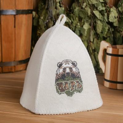 "Bath cap with thermal printing ""King""(bear)"