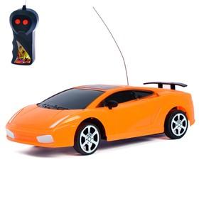 Машина радиоуправляемая «Ламбо», работает от батареек, цвет оранжевый