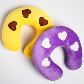 Детская подушка для путешествий «Сердечки», цвет МИКС