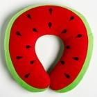 """Детская подушка для путешествий """"Арбуз"""", цвет зеленый - фото 105547133"""