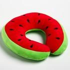 """Детская подушка для путешествий """"Арбуз"""", цвет зеленый - фото 105547134"""