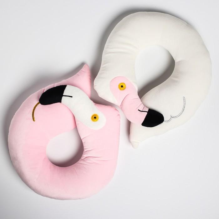 """Детская подушка для путешествий """"Фламинго"""", цвет МИКС"""