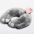 Детская подушка для путешествий «Слон», цвет серый - фото 105547156