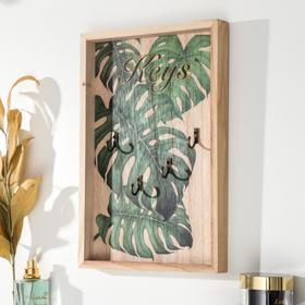"Крючки декоративные дерево ""Пальмовые листья"" 29,5х19,8х2,7 см"