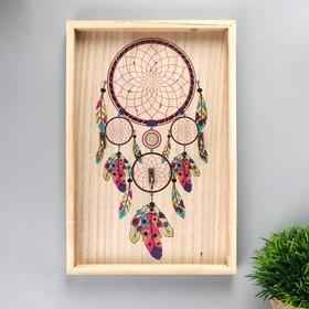 """Крючки декоративные дерево """"Ловец снов"""" 29,5х19,8х2,7 см"""