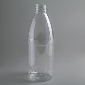 Бутылка одноразовая молочная «Универсал», 1 л, с широким горлышком 0,38 мм, цвет прозрачный в Донецке
