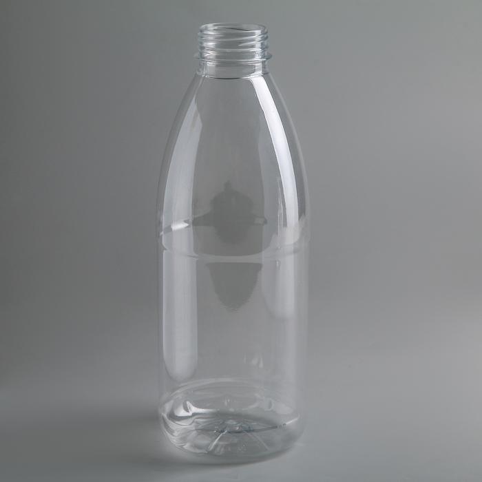 "Бутылка молочная 1 л ""Универсал"", прозрачная, с широким горлышком 0,38 мм"