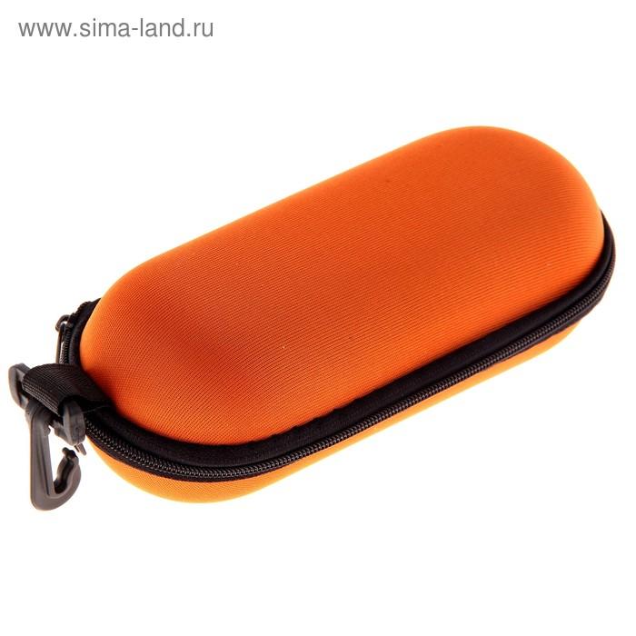 """Футляр для очков """"Классика"""" с карабином, оранжевый"""