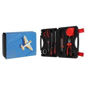 Набор инструментов в кейсе TUNDRA '23 Февраля', подарочная упаковка, 7 предметов Ош