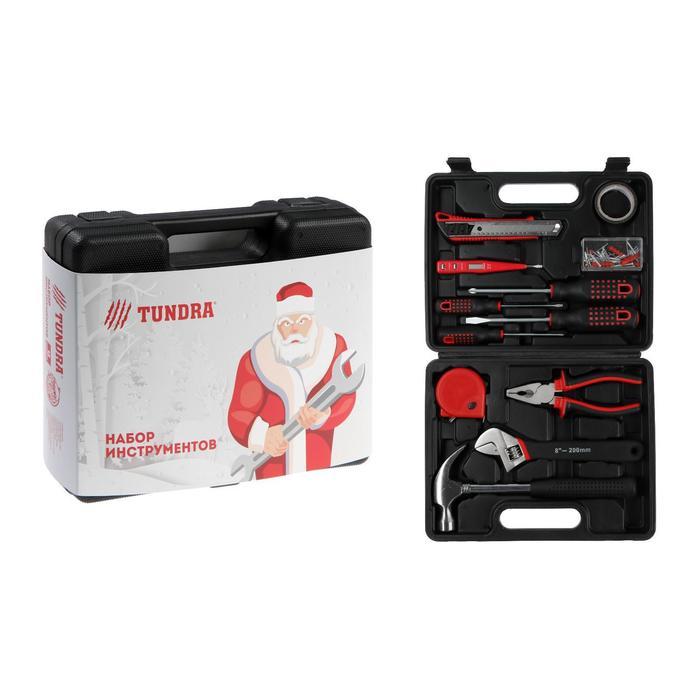 """Набор инструментов в кейсе TUNDRA """"С Новым Годом"""", подарочная упаковка, 12 предметов"""